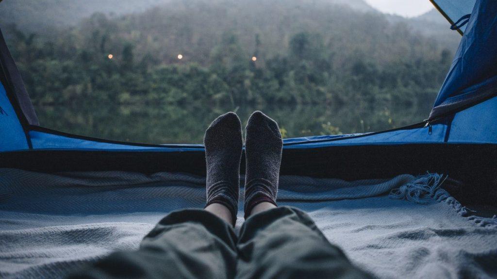 Widok z perspektywy namiotu