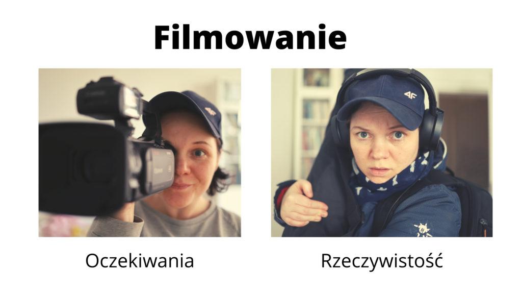 mem na temat filmowania